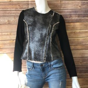 G by Giuliana fitted biker style jacket